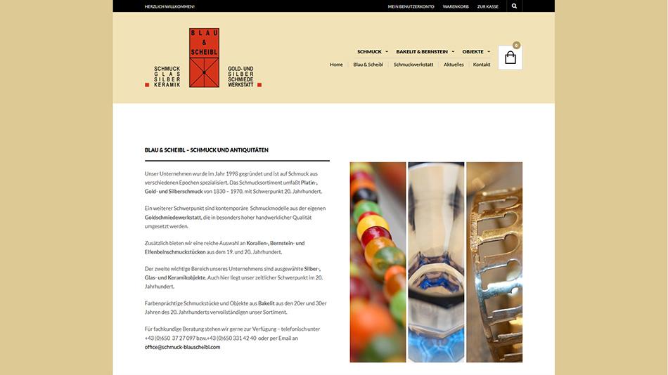 Schmuck Blau & Scheibl Website