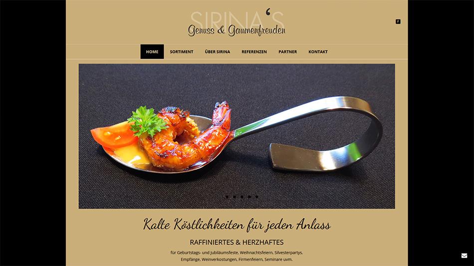 Sirina's Genuss- und Gaumenfreuden Website Startseite