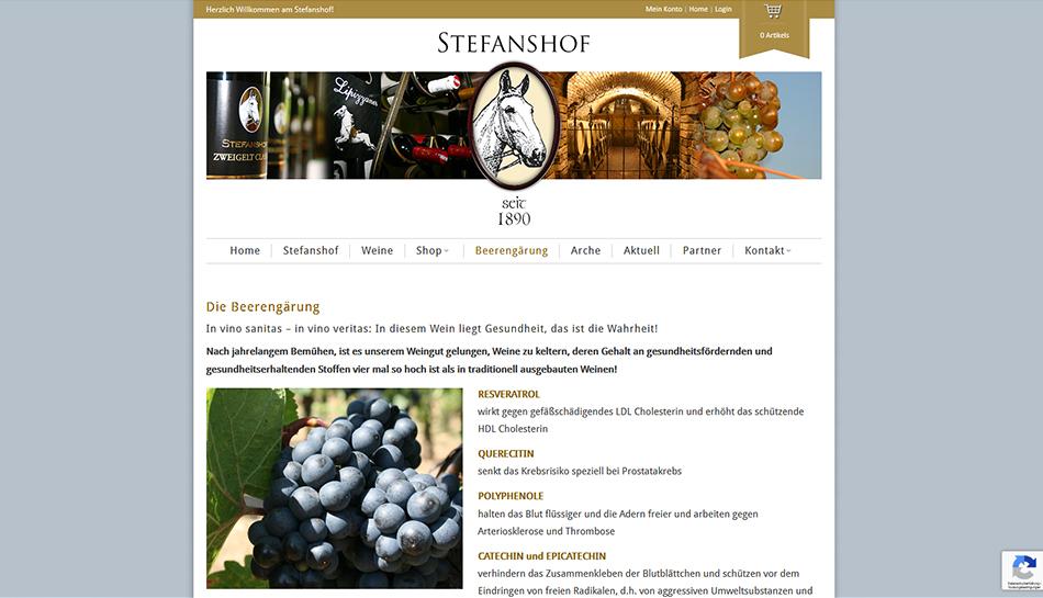 Stefanshof Website
