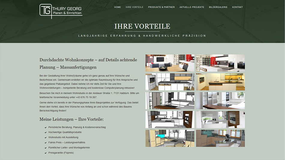 Thury Georg Website Screen 1