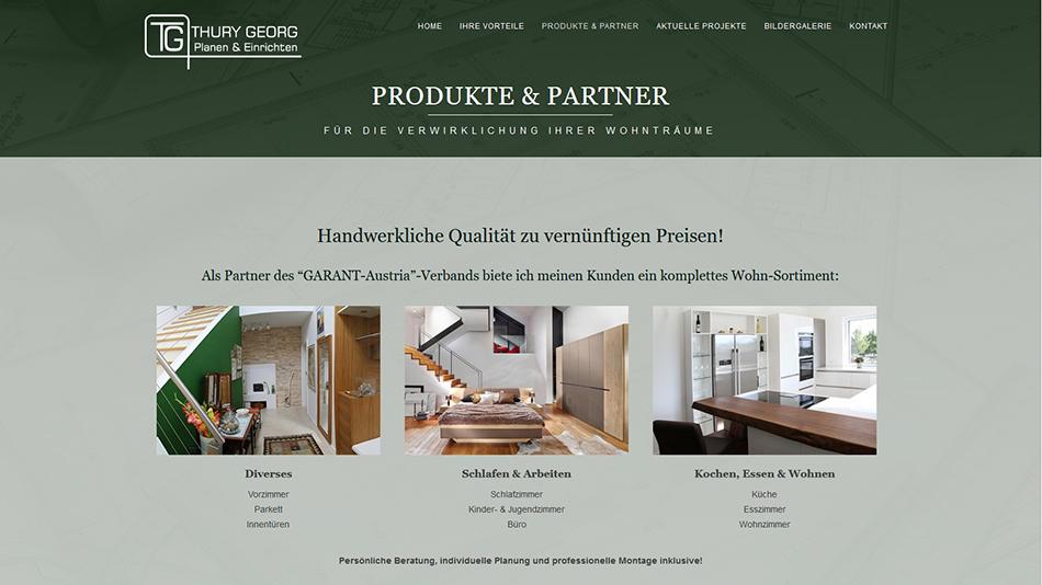 Thury Georg Website Screen 2