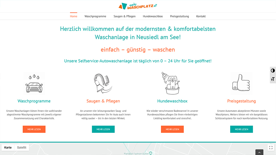 Mein Waschplatz Website Screen 1