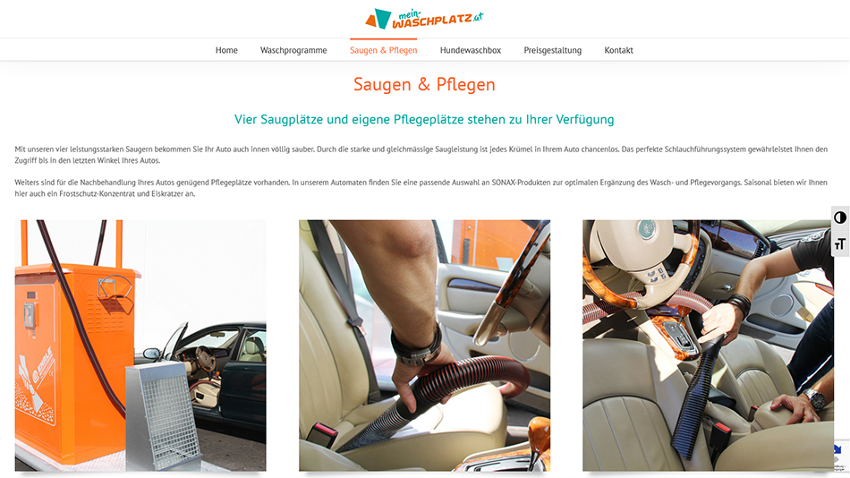 Mein Waschplatz Website Screen 2