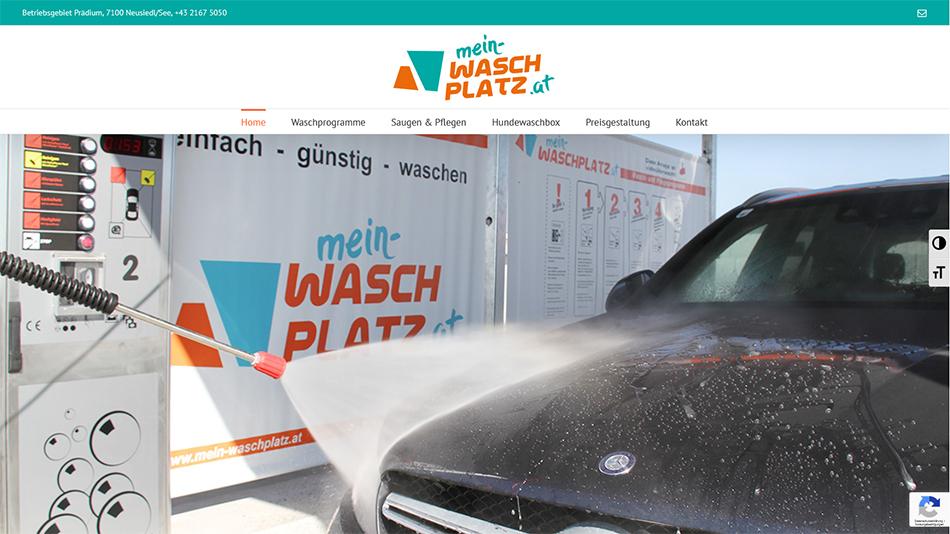 Mein Waschplatz Website Startseite