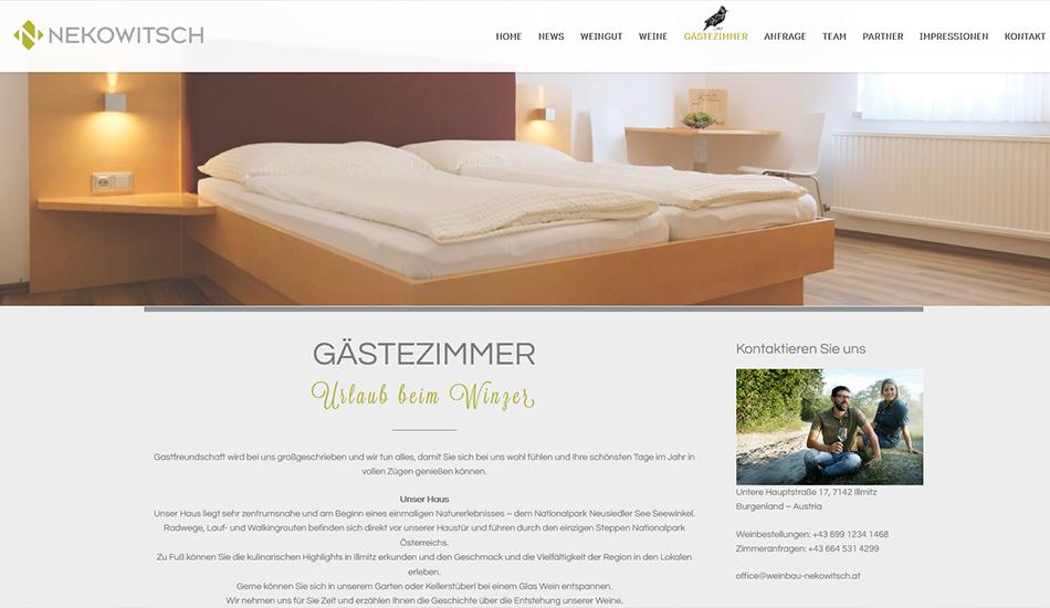 Weinbau Nekowitsch Website Screen 3