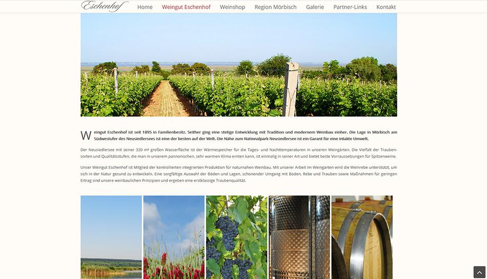Weingut Eschenhof Website