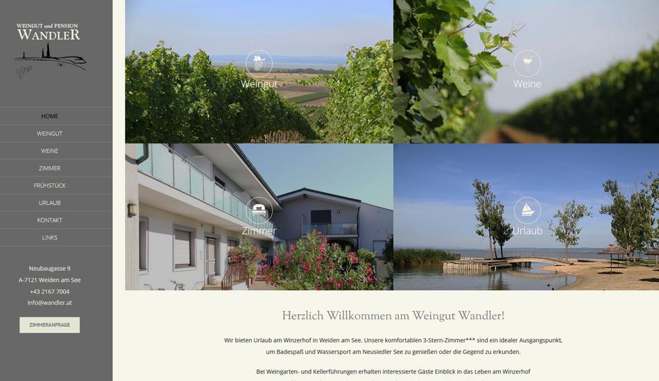 Weingut Pension Wandler Website Startseite