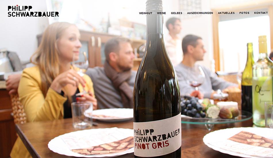 Weingut Schwarzbauer Website Startseite