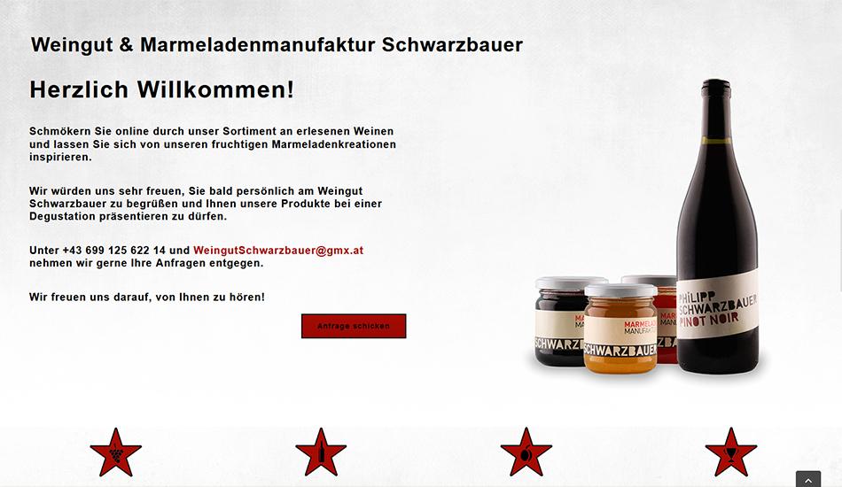 Weingut Schwarzbauer Website Screen 2