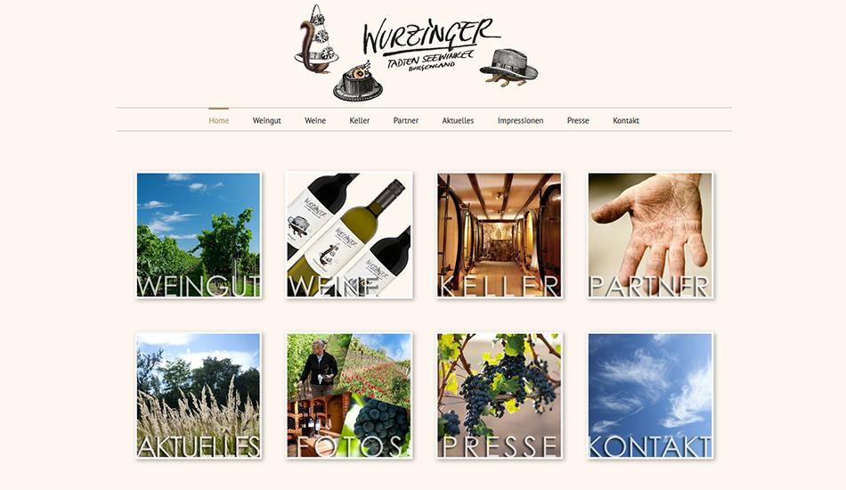 Weingut Wurzinger Website Startseite