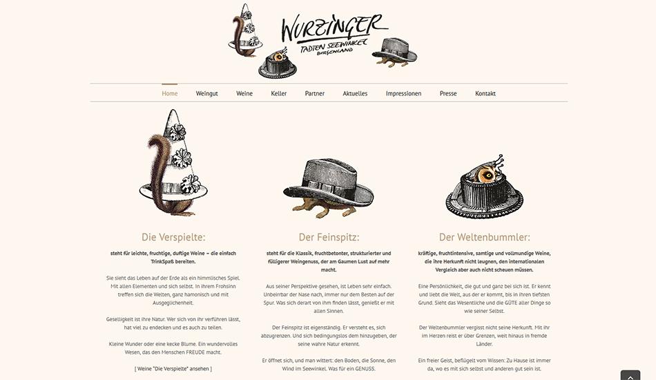 Weingut Wurzinger Website Screen 2