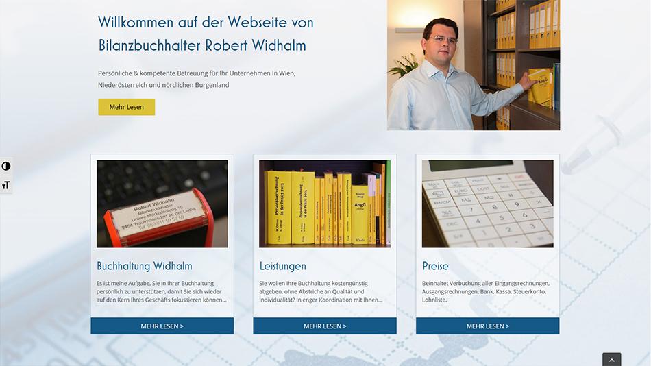 Robert Widhalm Website Screen 1
