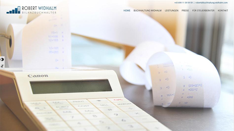 Robert Widhalm Website Startseite