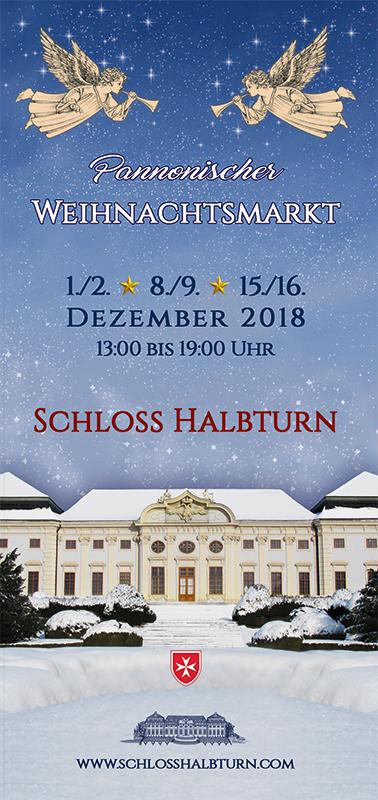Schloss Halbturn Folder Cover Weihnachtsmarkt