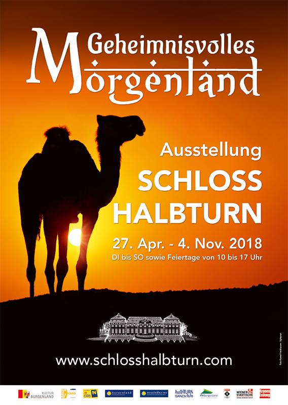 Schloss Halbturn Plakat Ausstellung Morgenland