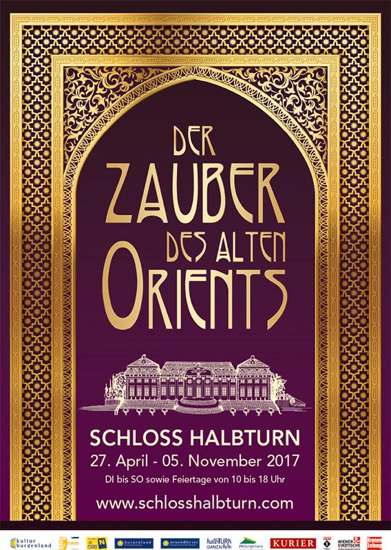Schloss Halbturn Plakat Ausstellung Orient