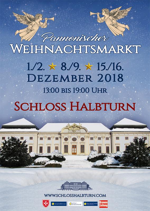 Schloss Halbturn Plakat Weihnachtsmarkt