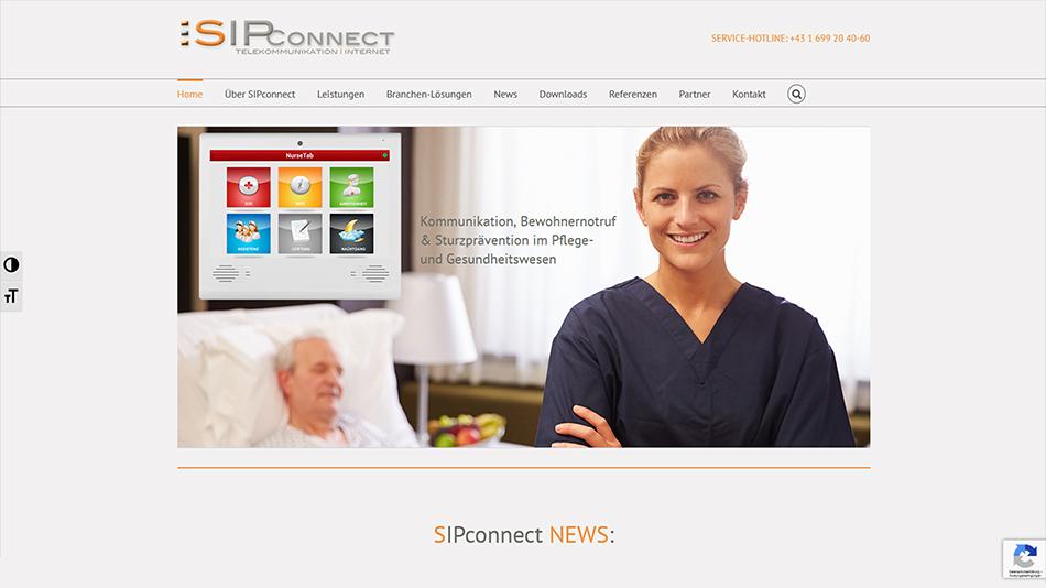 Sipconnect Website Startseite