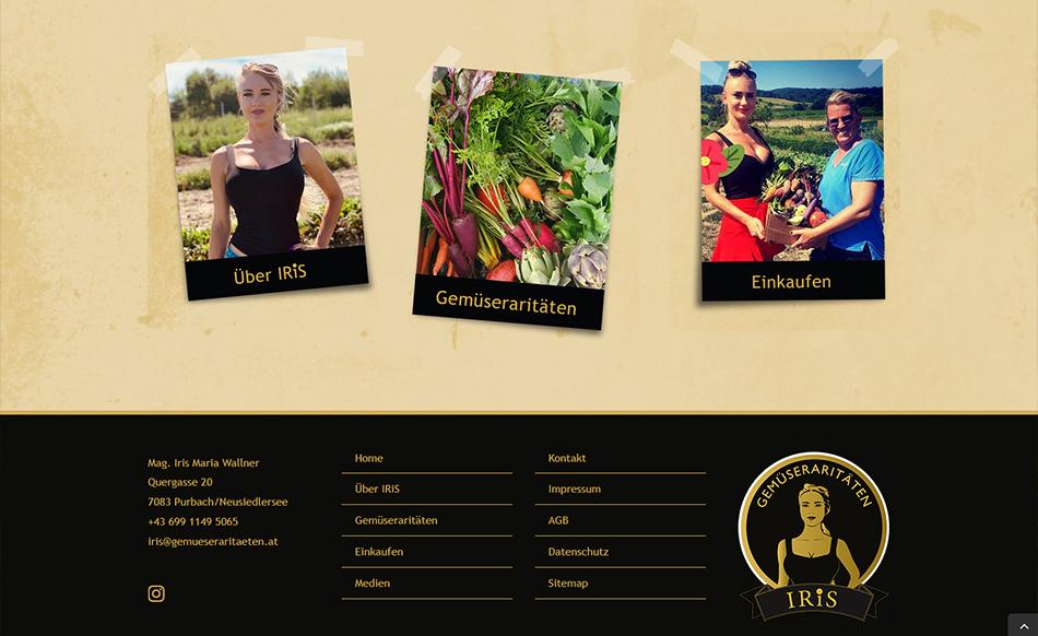 IRiS Gemüseraritäten Website Screen 1