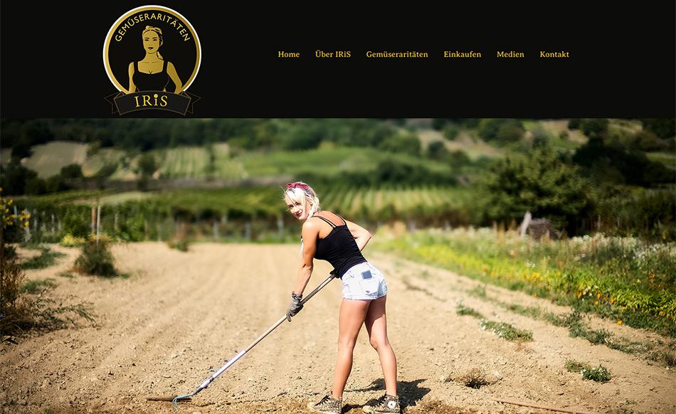 IRiS Gemüseraritäten Website Startseite
