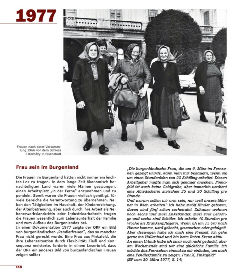 Buch 100 Jahre Burgenland Seite 1977