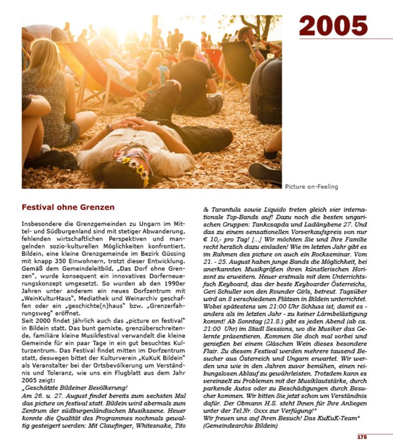 Buch 100 Jahre Burgenland Seite 2005