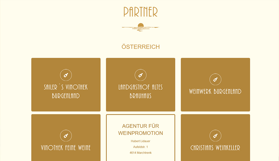 Weingut Unger Website Screen 1