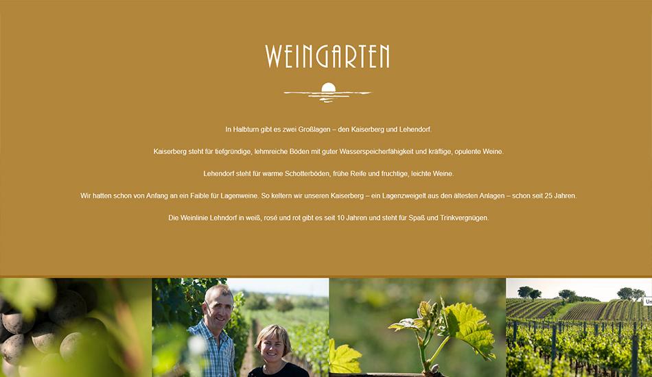 Weingut Unger Website Screen 2