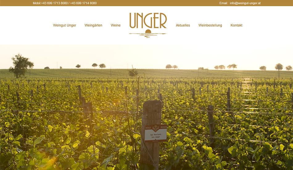 Weingut Unger Website Startseite