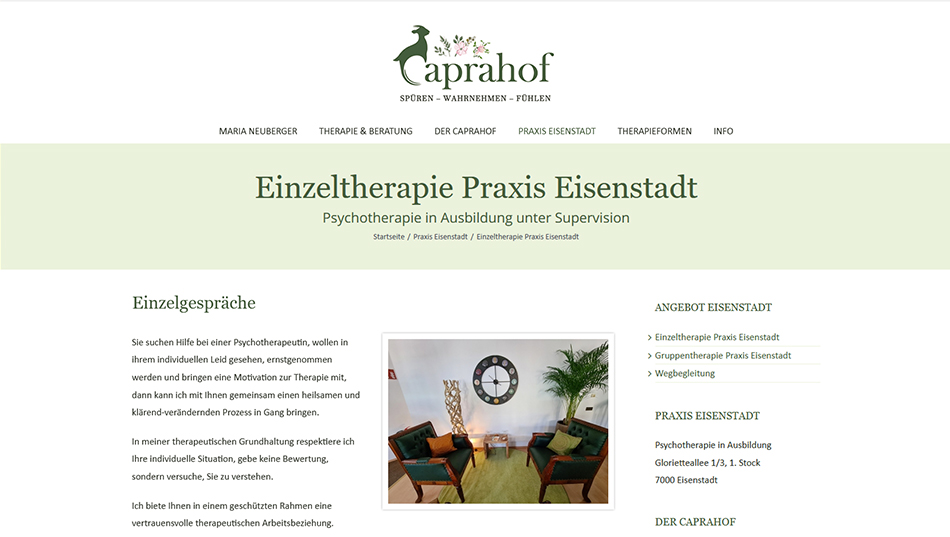 Caprahof Website 1