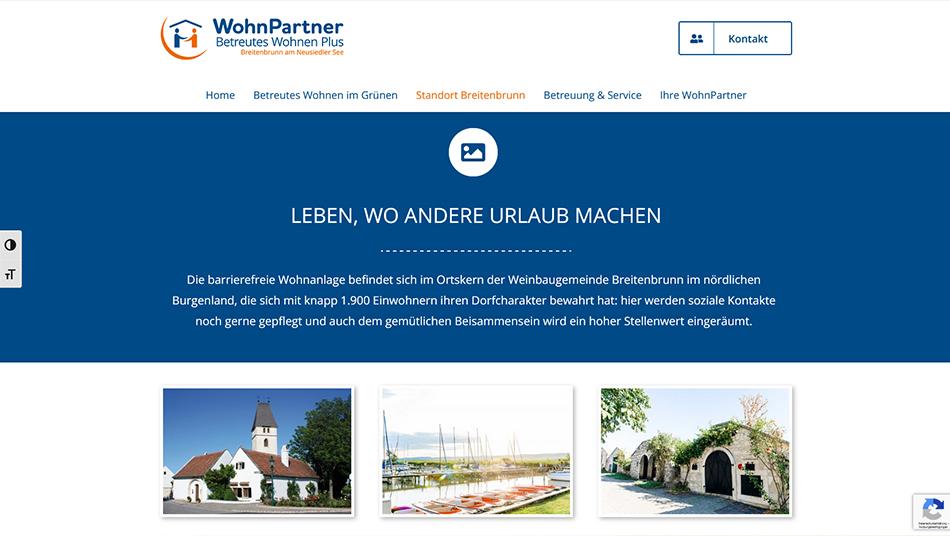 WohnPartner Website Screen 1