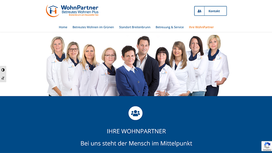 WohnPartner Website Screen 2