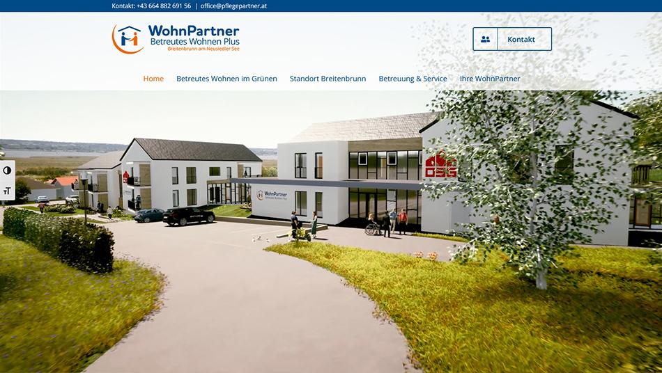 WohnPartner Website Startseite