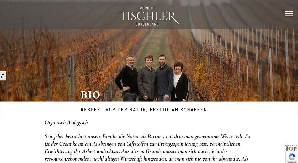 Weingut Tischler Screen 1